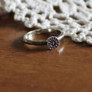 Silpada BELLE FLEUR STACK RING—STERLING SILVER